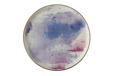 Porland Cosmos Desen7 Düz Tabak 20cm Renkli